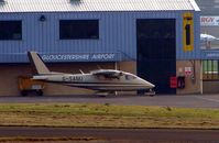 G-SAMJ @ EGBJ - Partenavia P68B at Gloucestershire (Staverton) Airport
