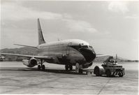 9M-AOV @ HKG - being pushed back for departure.HKG Kai Tak airport,Oct.1969 - by metricbolt
