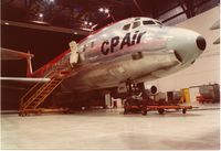 CF-CPM @ CYYZ - Overnighting in the CP Air hangar,Toronto,early 80s - by metricbolt