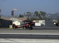 N59031 @ SZP - 1941 Boeing Stearman A75N1, Continental W670 220 Hp, taxi to Rwy 22 - by Doug Robertson