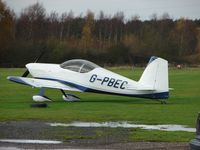 G-PBEC @ EGBD - Rans V-7  visits a very wet grass strip at Eggington