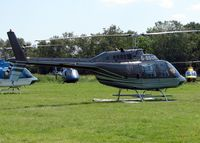 G-BBOR - Helicopters arrive at the temporary Heliport on 2007 Epsom Derby Day (Horse racing)