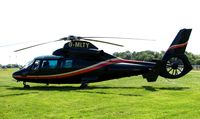 G-MLTY - Helicopters arrive at the temporary Heliport on 2007 Epsom Derby Day (Horse racing)