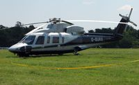 G-BURS - Helicopters arrive at the temporary Heliport on 2007 Epsom Derby Day (Horse racing)