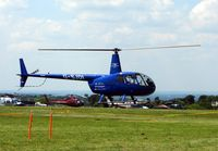 G-SJDI - Helicopters arrive at the temporary Heliport on 2007 Epsom Derby Day (Horse racing)