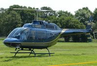 G-HMPH - Helicopters arrive at the temporary Heliport on 2007 Epsom Derby Day (Horse racing)