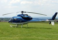 G-EMHH - Helicopters arrive at the temporary Heliport on 2007 Epsom Derby Day (Horse racing)