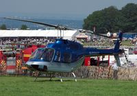 G-TOYZ - Helicopters arrive at the temporary Heliport on 2007 Epsom Derby Day (Horse racing)
