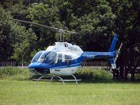 G-BLGV - Helicopters arrive at the temporary Heliport on 2007 Epsom Derby Day (Horse racing)