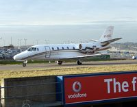 G-CIEL @ EGGW - Cessna Excel taxies out at Luton - by Terry Fletcher