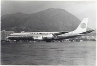 N458PA - Jet Clipper Titian at HKG Kai Tak airport,late 60s - by metricbolt