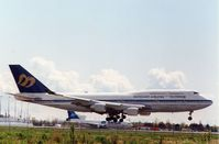 B-16801 @ CYVR - Arrving in Vancouver from Taipei,late 1990s. - by metricbolt