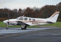 N65MJ @ EGTB - Beech 58P at Wycombe Air Park - Booker Airfield