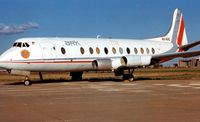 4X-AVE @ TUS - Viscount was stored for many years at Tuscon - by Terry Fletcher