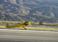 N1017U @ SZP - 1939 Bucker Jungmann C.A.S.A. 1.131, Lycoming O-360 180 Hp upgrade, landing Rwy 22 - by Doug Robertson
