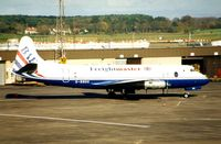 G-BBDK @ EGPK - British Air Ferries operated this Viscount in 1987 - seen here at Prestwick , Scotland