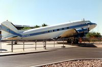 N57123 @ FFZ - This DC3 was originally delivered to the Army Air Corps as 44-76837 - seen outside the Museum at Mesa Falcon Field in 1996