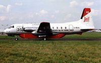 G-BNJK @ LFPB - Macavia displayed this converted HS748 at the Paris Air Show in 1989