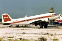 N700RC @ FLL - This de-registered DC3 looked in a poor way when photographed at FLL in 1991