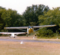 N77806 - Departing former Mangham Airport (F70) - N-number written on back of photo