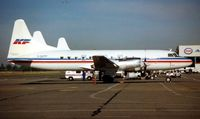 C-GKFP @ CYVR - Kelowna Flightcraft Air Charter CV580 sits at Vancouver Int  in 1996