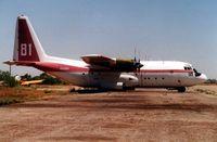N131FF @ 34AZ - Lockheed Hercules on the T&G Ramp at Chandler Memorial  in 1996