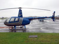 G-VEIT @ EGTB - Robinson R44 at Wycombe Air Park