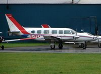 G-PZAZ @ EGTK - Piper Navajo at a very wet Oxford Kidlington