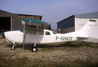 F-GSGT @ LFNG - Parked after overhaul - by Shunn311