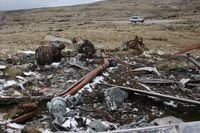 AE521 - Wrecked BV Chinook CH-47C of the Argentine AF located at the foot of Mount Kent, Falkland Island. This aircraft was destroyed during the 1982 Falklands Conflict. - by Steve Staunton