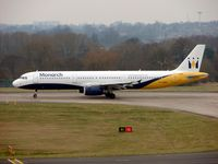 G-OZBE @ EGBB - Monarch A321 awaits departure clearance - by Terry Fletcher