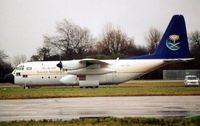 HZ-115 @ EGSS - Saudia Lockheed Hercules at Stansted