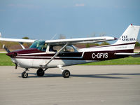 C-GFVS @ CYSN - 1976 Cessna 172M with 40° flaps - by R. Fediw