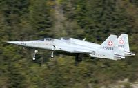 J-3093 @ LSMM - Seen during take off at Meiringen AB in the haert of Switserland.