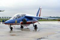 E156 @ NBU - French Aerobatic Team Alpha Jet E at the open house. This one was c/n E156 - by Glenn E. Chatfield