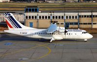 F-GEGF @ EDDF - ATR42 c/n 36 of Air Littoral operated in the colours of Air France in 1988 - seen taxying to depart Frankfurt