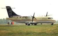 G-BUPS @ EGSS - This aircraft operated for UK airline , Titan Airways from 1994-2004 before becoming TG-RYM