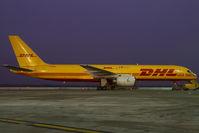 G-BMRB @ VIE - European Air Transport Boeing 757-200 in DHL colors
