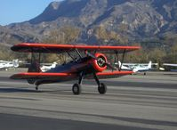 N59031 @ SZP - 1941 Boeing Stearman A75N1, Continental W670 220 Hp, taxi off Rwy 22 - by Doug Robertson
