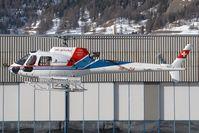 HB-ZIA @ LSZS - Air Grischa Aerospatile AS350 - by Andy Graf-VAP