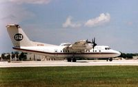 N173RA @ MIA - Gulfstream Int Air's Dash 7 at Miami in 1999 - was brought by White Industries for Spares and Breaking