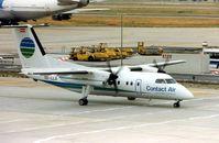 OE-LLO @ EDDF - Contact Air Dash 8 at Frankfurt in 1990