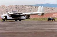 N9701F @ GEY - Rare aircraft and Automobile side by side on the Greybull ramp in 1997