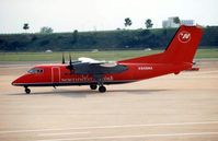 N848MA @ MSP - This registration was previously worn Mesaba Dash 8 - seen here at Minneapolis in 1998