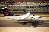 D-BIRT @ EDDF - Augsburg Air Dash 8 at Frankfurt in 1998 - aircraft subsequently sold as N883EA - by Terry Fletcher