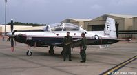 165996 @ GSB - Visiting Naval T-6 with her crew - by Paul Perry