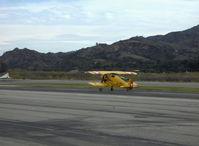N133JU @ SZP - 1936 Bucker 133C Jungmeister (Serial No. 1001-1st production Jungmeister) as NX133JU, Siemens-Halske SH 14 A-4 Radial 160 Hp, landing roll Rwy 04 - by Doug Robertson