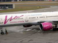 RA-73012 @ LOWS - This B757 wears both Vim Airlines and Air Bashkortostan titles