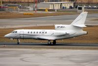 VP-BEA @ LOWS - Jet Aviation's anonymous looking Falcon 50EX arrives at Salzburg - by Terry Fletcher