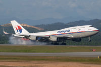 9M-MPC @ WMKK - Malaysia Airlines 747-400 - by Andy Graf-VAP